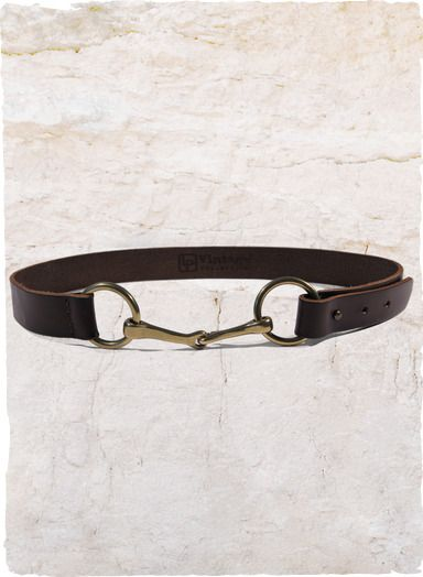 With a nod to classic equestrian styling, this espresso leather belt is styled with a unique double brass ring and tacked prong closure.