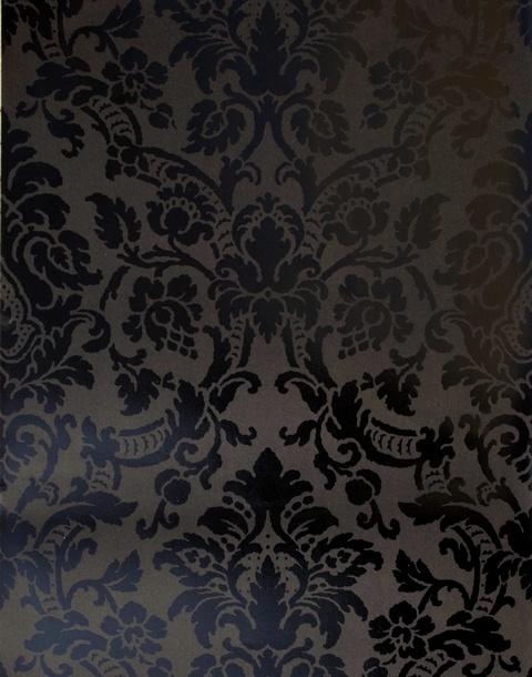 : Black Shiny, Tonal Black, Home Fashion, Basements Bedrooms, Master Bedrooms, Savoy Damasks, Damasks Wallpapers, Fashion Savoy, Accent Wall