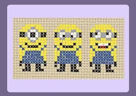 free cross stitch patterns: minions - Google Search