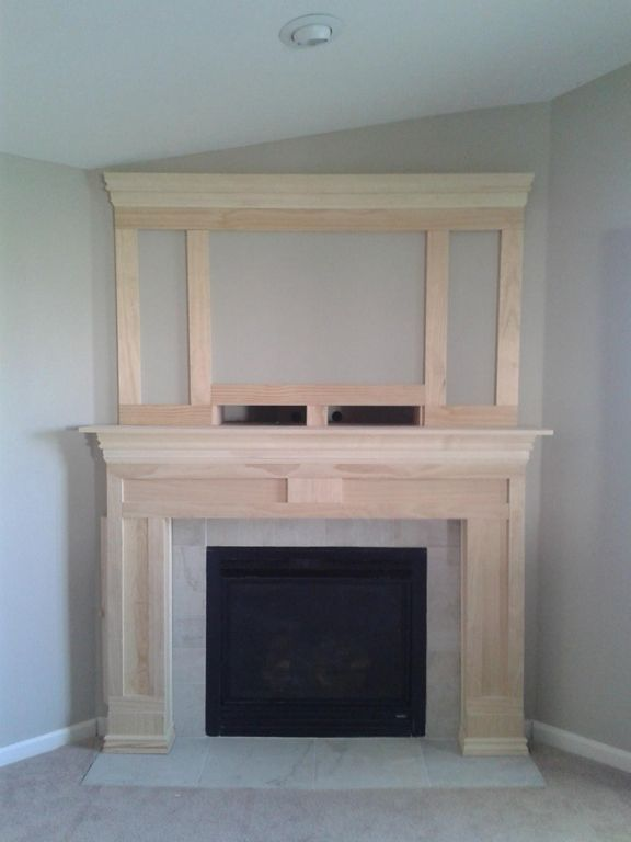 Corner fireplace mantels ideas woodworking projects plans for Building a corner fireplace