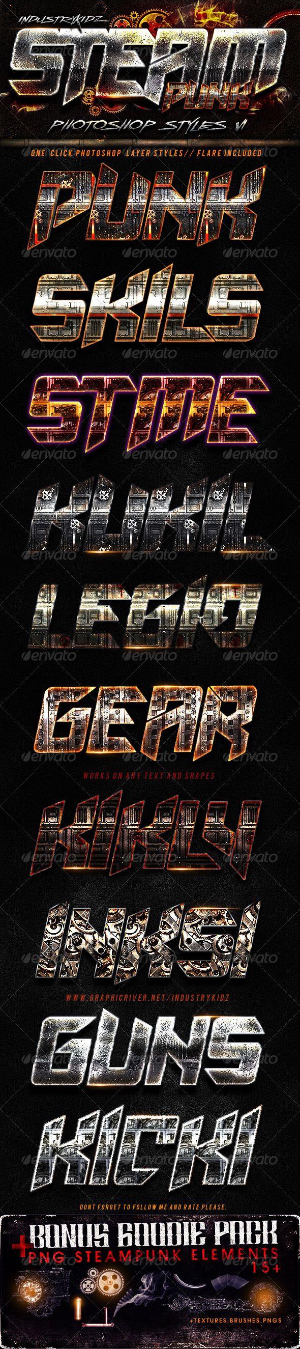 SteamPunk Photoshop Styles
