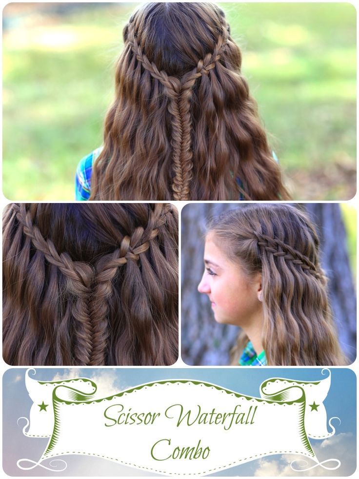 Scissor Waterfall Braid Combo and more Hairstyles from CuteGirlsHairstyles.com