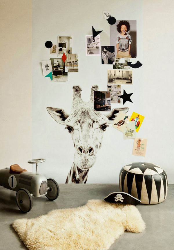 magnetic wallpaper with giraffe print | the style files