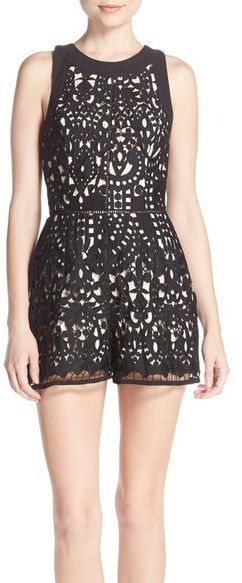 Adelyn Rae Cutout Back Lace Romper (Nordstrom Exclusive)