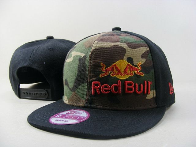 Red Bull Snapback Hats 9Fifty Snapbacks Caps Black Camo 024