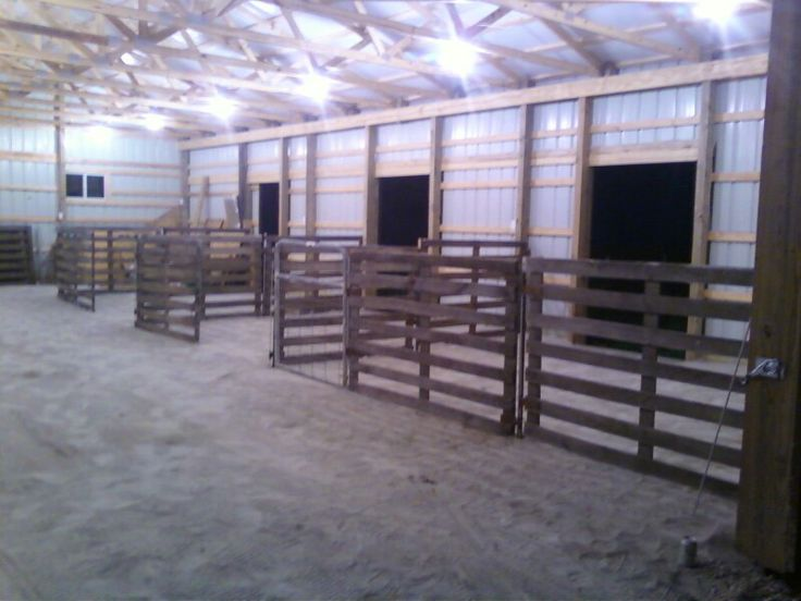 Barn set up ideas - B & B show stock