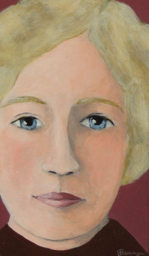 """Blue Eyes"" Original Painting by Elizabeth Bauman"