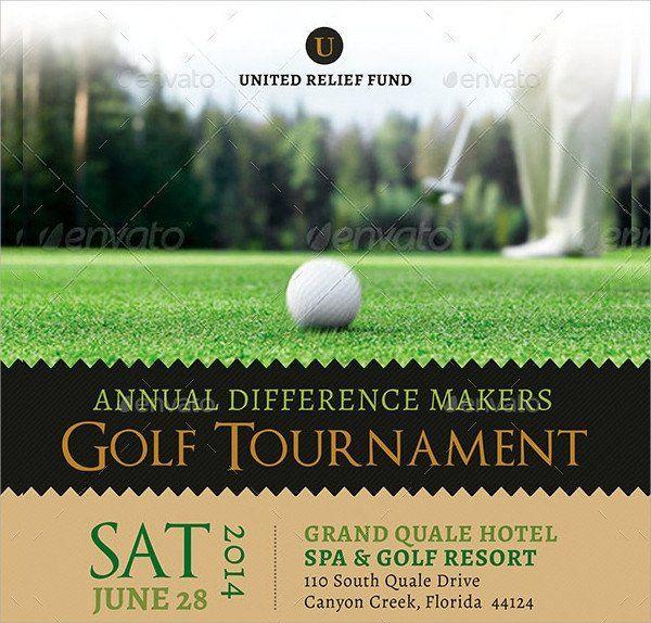Golf Tournament Flyer Templates Golf Tournament Flyer Template 23 Download In Vector Flyer Template Event Flyer Templates Brochure Template