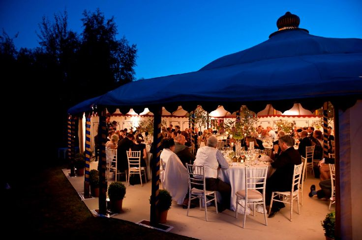 Our LPM Grand Pavilion by night with sides open. Summer time and the living is…