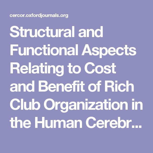 Structural and Functional Aspects Relating to Cost and Benefit of Rich Club Organization in the Human Cerebral Cortex