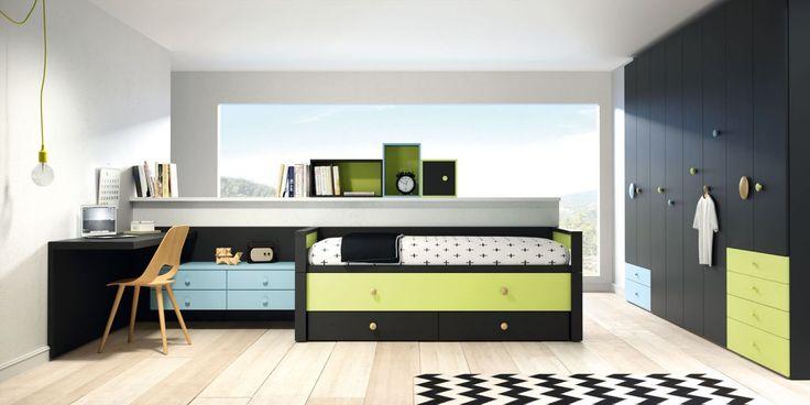 Planificador de dormitorios juveniles de Lagrama. Cambia los colores y tiradores…