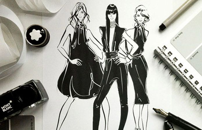 OCRF brand campaign featuring illustrations from Megan Hess