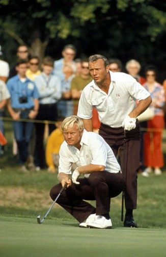 Jack Nicklaus and Arnold Palmer - 1971  Followed them at several tournaments. When we all were younger.