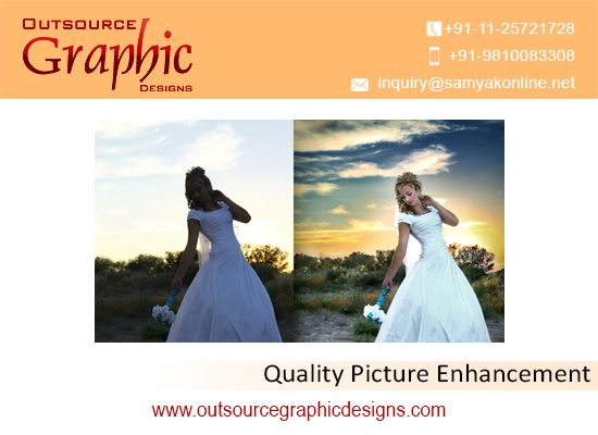 Photo enhancement services are very latest, professional and eye catching, so every task is done excellently. Our experts are very talented & highly knowledgeable to improve the quality of photographs. Contact us now for best pricing.