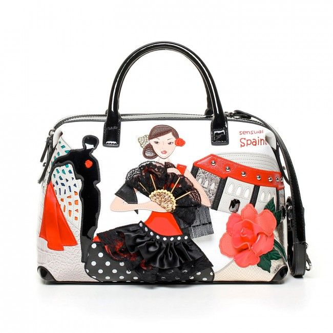 Borsa Braccialini Cartoline Spain #handbags #borse #bags #cartoline