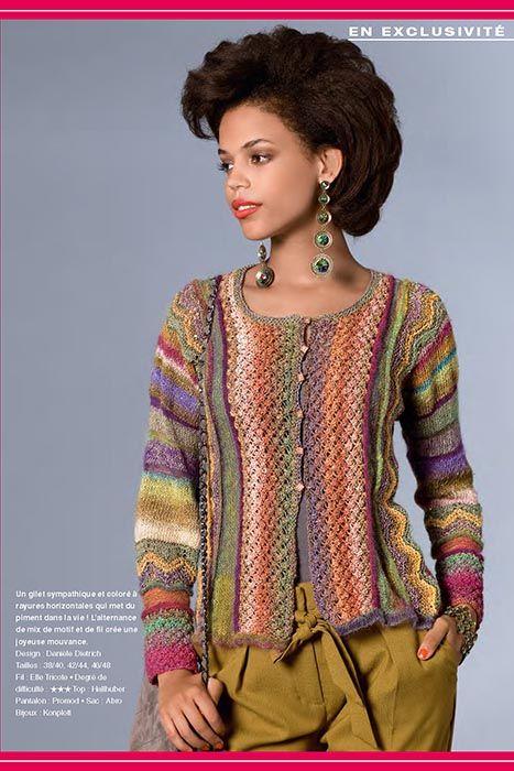 Veste d'automne - Modèle exclusif ELLE TRICOTE pour Verena/Burdat tricot