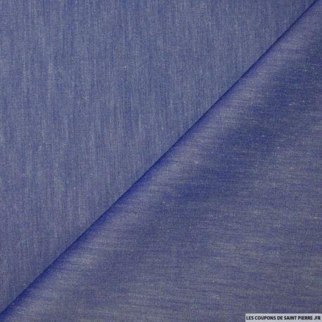 tissu Jean's Chambray lavande vendu en coupon de 3 mètres. Tissus pas cher souple et de belle qualité, idéal pour la confection de pantalon ou veste en jean's !