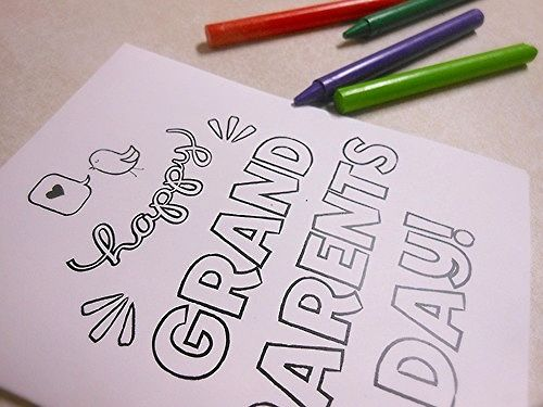 Free printable card for Grandparent's Day that kids can decorate!