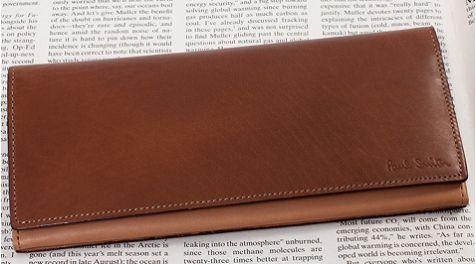 ハイブランドの革財布。ポールスミスのシンプルさが良い◎