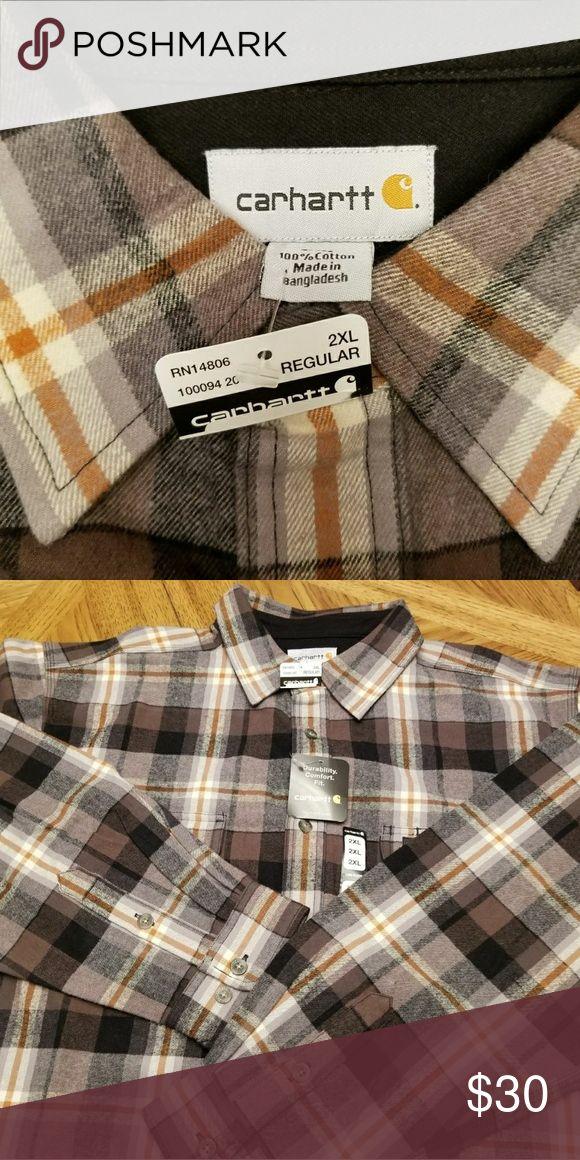 Carhartt Shirt Mens Sherpa wool fleece Carhartt shirt with quilted lining. Carhartt Shirts Casual Button Down Shirts