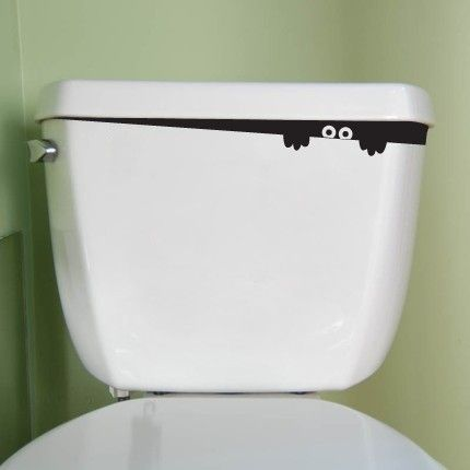 Toilet decal monster - So cute!