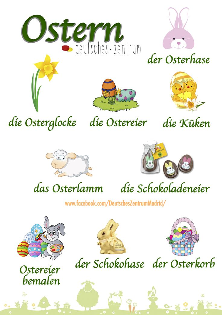 Ostern Deutsch Wortschatz Grammatik German Alemán DAF Vocabulario