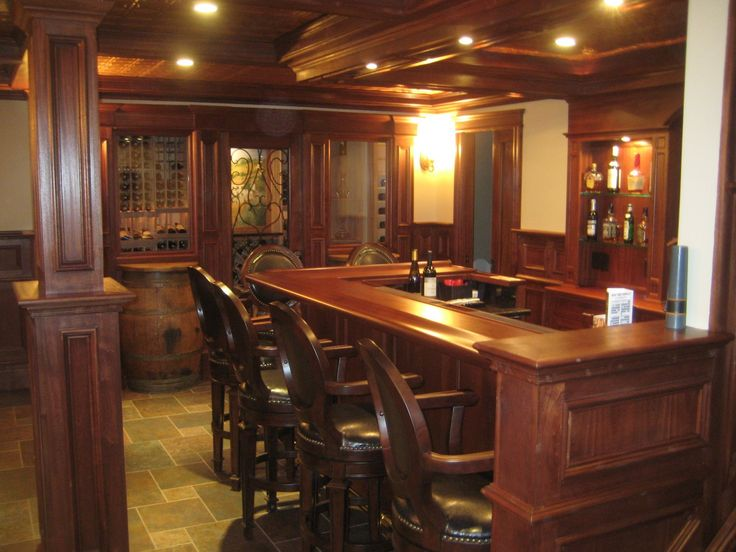 Basement Idea Photo Wooden Bar | Custom Bar Ideas
