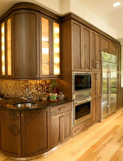 A Good Look At The Solid Walnut Radius Doors Moldings And Stainless Toe  Kick Cover Cabinets
