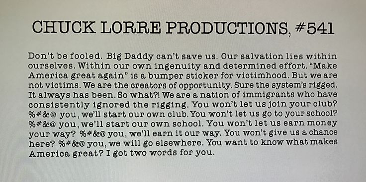 Making Sense of this election, Thank you Chuck Lorre.