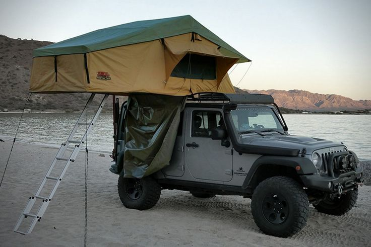 One of the advantages of having the right gear for car camping is that you can hit the road with no specific plan and still have a blast. See a nice camping area? Find a good clearing? With Tuff Stuff's Overland Rooftop Tent & Annex Room you can turn it into your back yard for the weekend.There are a lot of rooftop tents out there, but few as easy to setup as this one fromTuff Stuff. Designed for comfort and convenience, this thing can fold out into a two person tent with an annex room in...