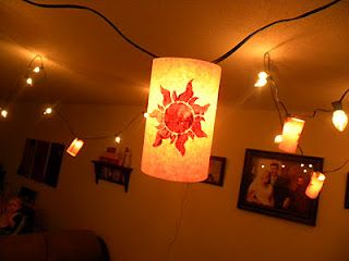 "Homemade ""Tangled"" lanterns.  So so easy!!!"