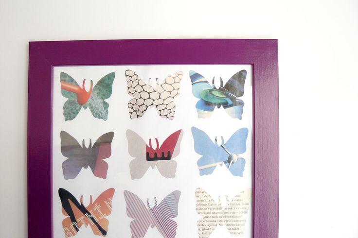 mačet: tvořivý blog: sbírka motýlů (DIY butterflies)