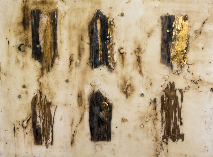 'Garden Gates' (40x30cm) Encaustic by Mirella Vassallo