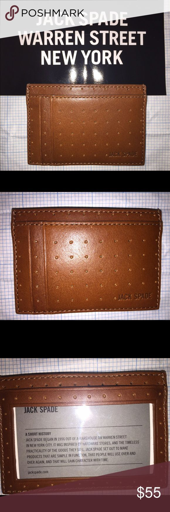 Jack Spade Leather Wallet Cardholder Beautiful Jack Spade leather perforated wallet/cardholder. Brand new with tags! (This is the male line from Kate Spade) Jack Spade Bags Wallets