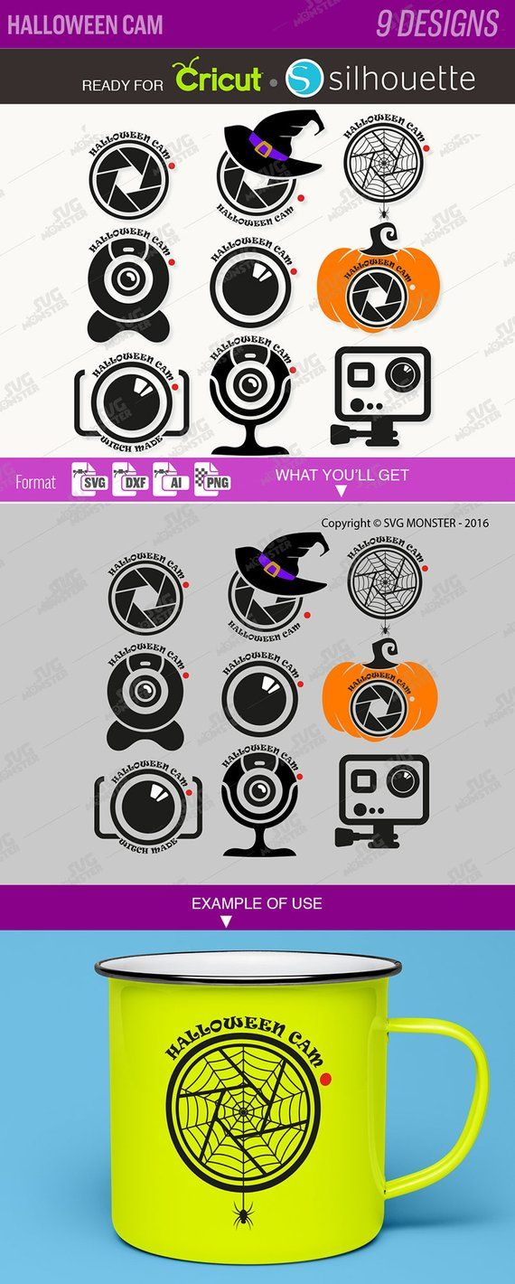 HALLOWEEN CAM SVG fichiers fichiers Clipart coupe