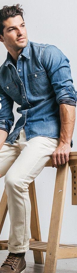 mens denim shirt styles
