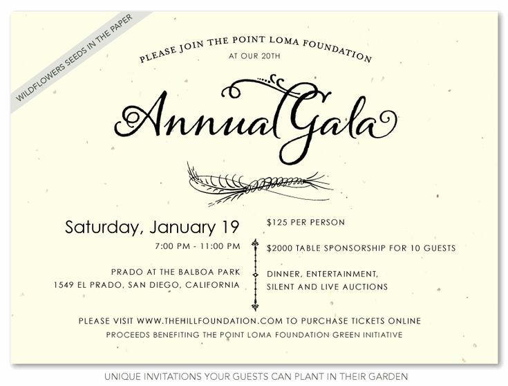 Unique Business Invitations ~ Natural Gala  Corporate Invitation Format