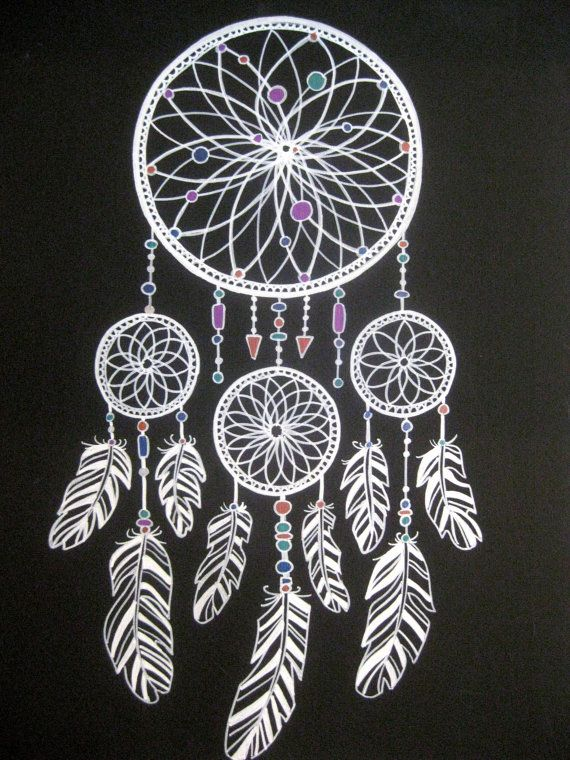 Metallic ink and Acrylic Paint Dreamcatcher by CatherineBradlyArts, $170.00 on Etsy #dreamcatcher #art