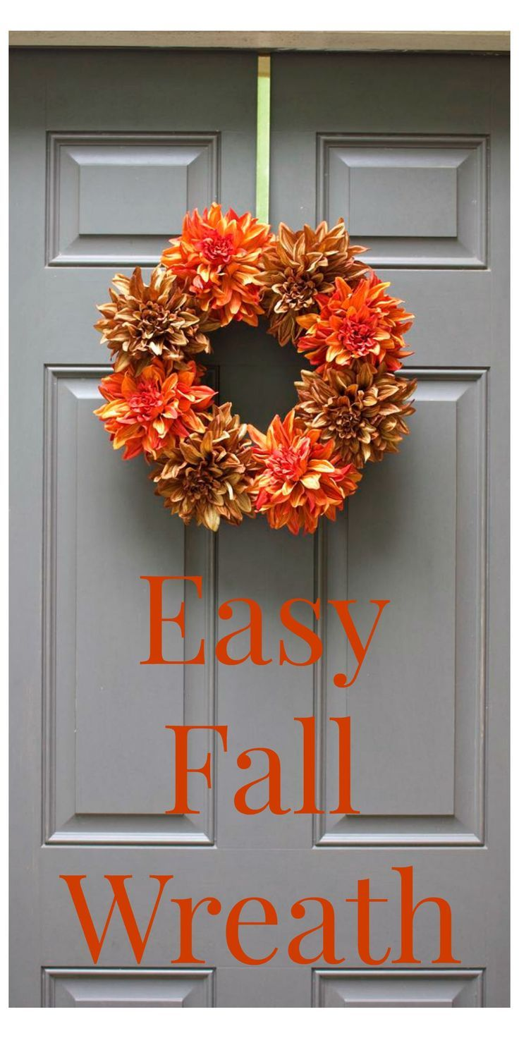 Simple Fall Wreath: Super Simple, Easy Fall Wreaths And Fall Wreaths On Pinterest