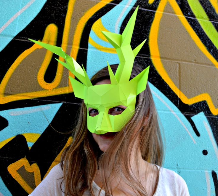 Deer mask inspired by spring, designed by RPS Masks, and read to be constructed by you. www.rpsmasks.com