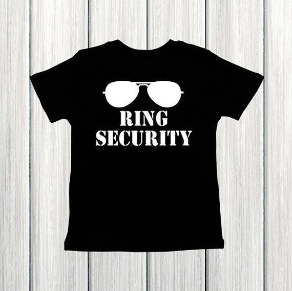 Hey, I found this really awesome Etsy listing at https://www.etsy.com/ca/listing/467447176/ring-security-shirt-wedding-rehearsal