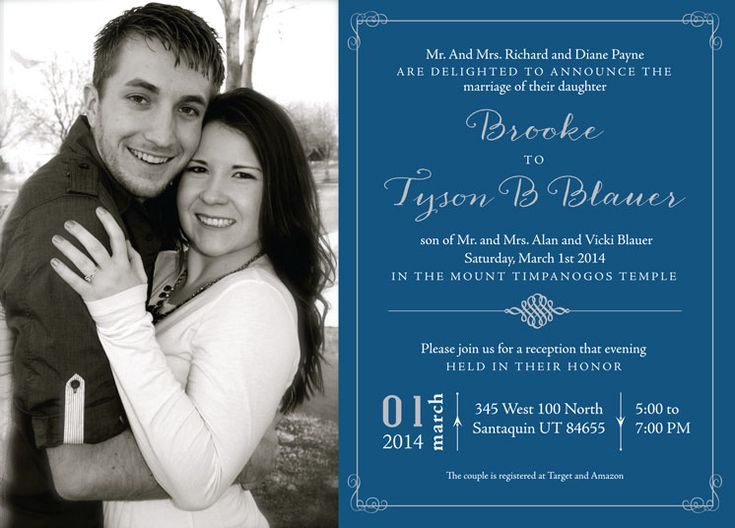 Wedding Invitation Ideas | Utah Announcements | Www.utahannouncements.com