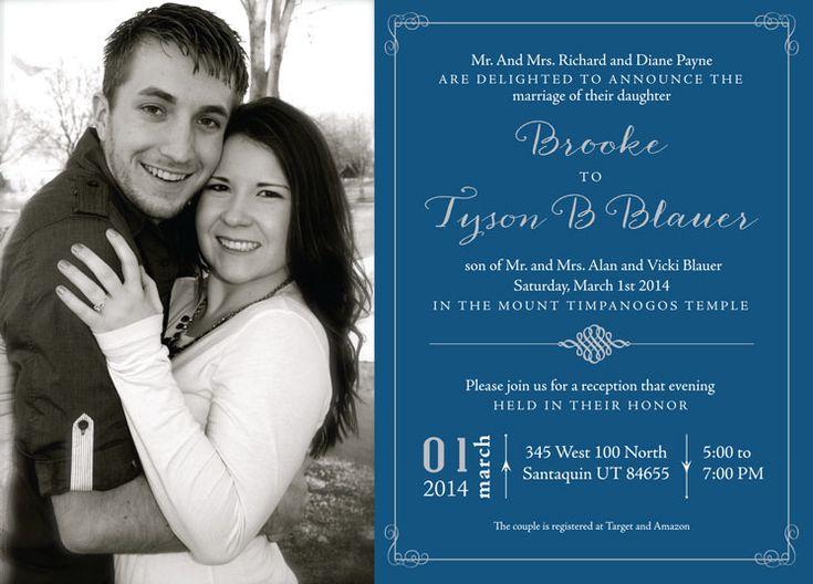 wedding invitation ideas utah announcements wwwutahannouncementscom