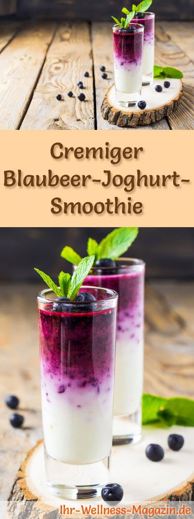 Blaubeer-Joghurt-Smoothie – gesundes Rezept zum Abnehmen
