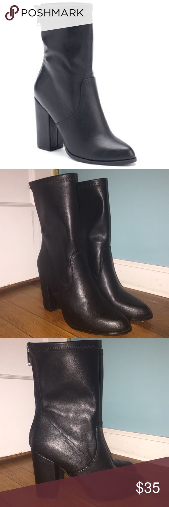 """Brand New!!! Juicy Couture Mid-Calf Boots Brand new """"Sullivan Women's Mid-Calf Boots"""" from Juicy Couture. Flexible shaft, block heel, almond toe, silver zipper in the back. 3"""" heel and 6"""" shaft. Never worn before and in perfect condition! Juicy Couture Shoes Heeled Boots"""