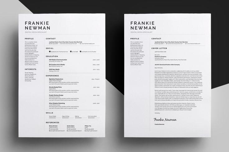 Resume/CV - Frankie by bilmaw creative on Creative Market
