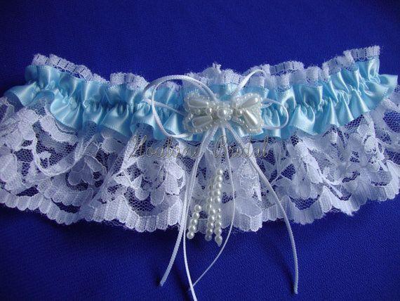 Lace Garter Blue Bridal Wedding Prom