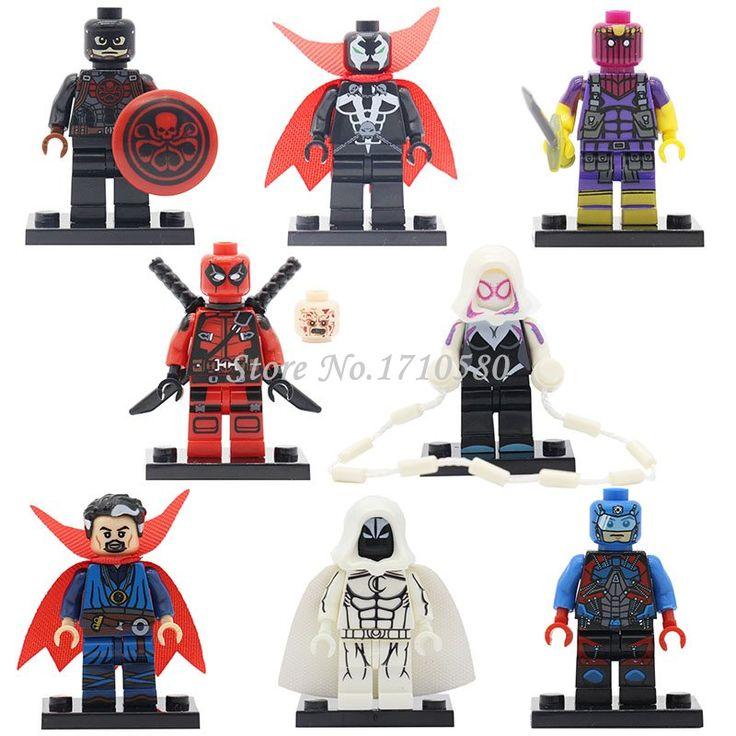 PG048 Moon Knight DC Marvel Super Hero Avengers Figures Collection Kids Gift Building Blocks Children Kids Gift Toys