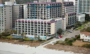 Groupon - 1-Night Stay for Two in an Ocean-View Double-Queen Room at Grande Shores Ocean Resort in Myrtle Beach, SC in Myrtle Beach, SC. Groupon deal price: $29