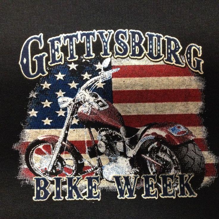 GETTYSBURG BIKE WEEK T-SHIRT MOTORCYCLE NEW #Gildan #BasicTee